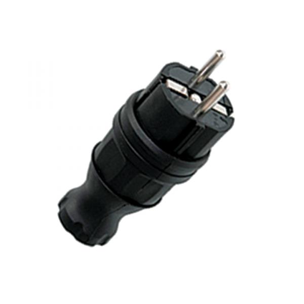Вилка прямая каучуковая 230В, 2P+PE, 16A, IP44 Basic | RPS-011-16-230-44 | EKF