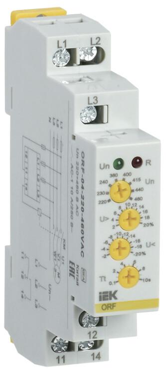 Реле фаз ORF 04. 3ф 220-460 В AC   ORF-04-220-460VAC   IEK