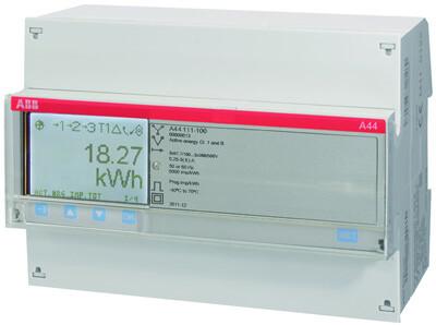 Счетчик 3-фазный активной энергии,1-тарифный,кл. точности 1,трансф. вкл. 1(6)А, имп. выход,тип A44 111-200 | 2CMA100121R1000 | ABB