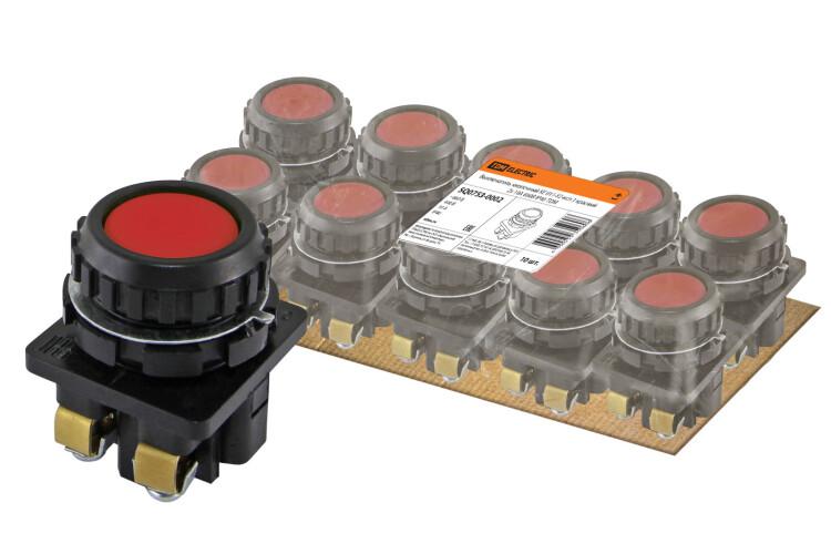 Выключатель кнопочный КЕ 011-У2-исп.1 красный 2з 10A 660B IP40   SQ0753-0002   TDM