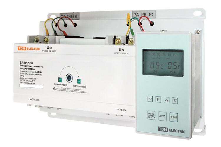 Блок автоматического ввода резерва БАВР 3П 500А   SQ0743-0006   TDM