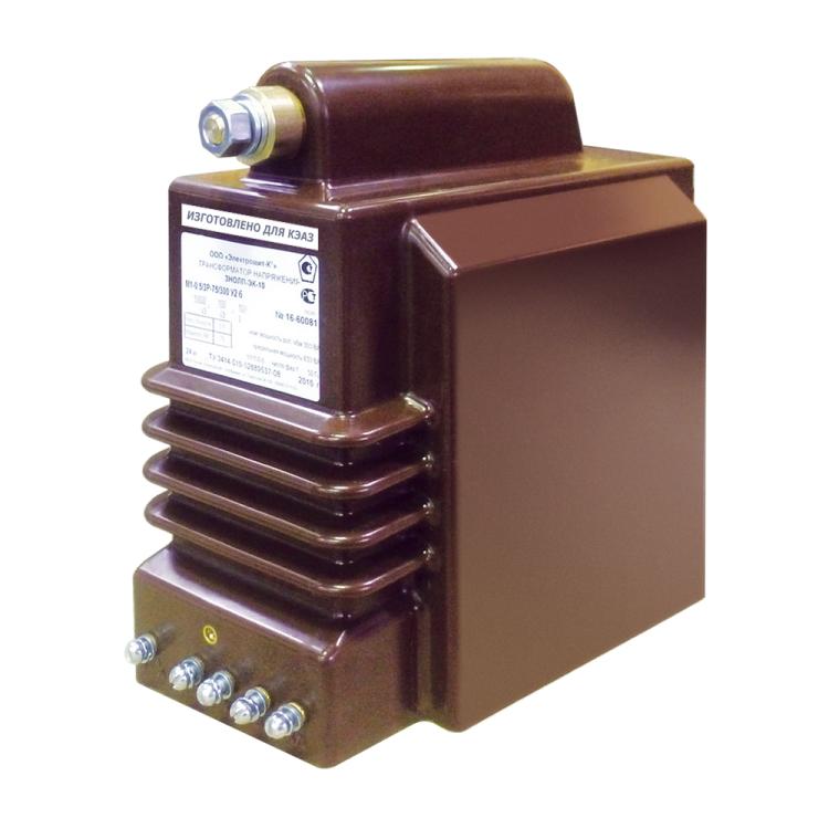 Трансформатор напряжения заземляемый ЗНОЛП-ЭК-10-М6-6000/?3-100/?3-100-0,5/3P-50/200-У2-б | 267856 | КЭАЗ