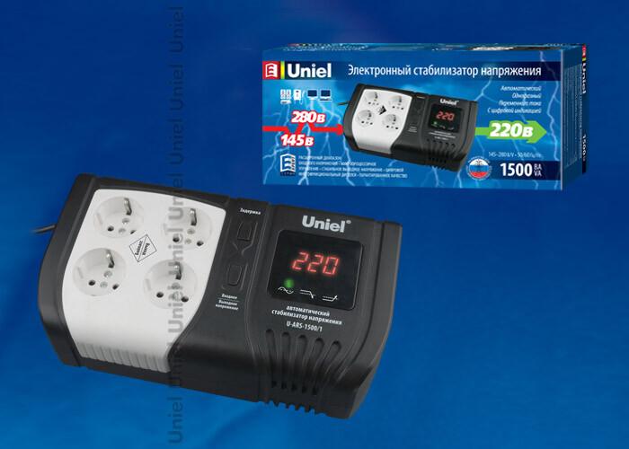 U-ARS-1500/1 Стабилизатор напряжения серии StandardExpert 1500 ВА | 09623 | Uniel