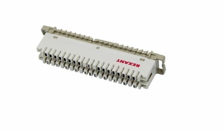 Плинт 10 pin размыкаемый, маркировка 0-9 (монтаж на рейку)   04-0102   REXANT