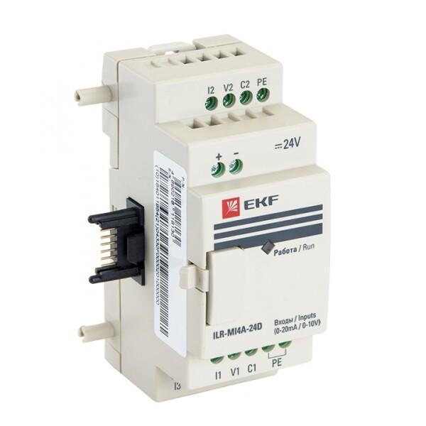 Модуль ввода термосопротивлений 4 24В PRO-Relay EKF PROxima | ILR-MI4PT-24D | EKF