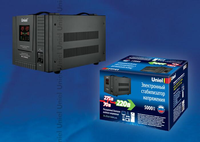 RS-1/5000LS Стабилизатор напряжения «Standard» релейный однофазный напольный, 70-275 В, 5000ВА | 09501 | Uniel
