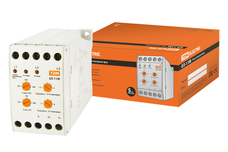 Реле контроля фаз ЕЛ-11М-3х380В (1п-контакт)   SQ1504-0005   TDM