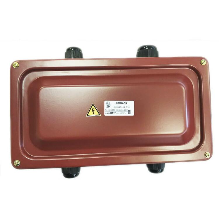Коробка клеммная с зажимами наборными КЗНС-16 У2 IP54 пластиковый ввод | zeta30317 | ЗЭТАРУС (Завод электротехнической арматуры)