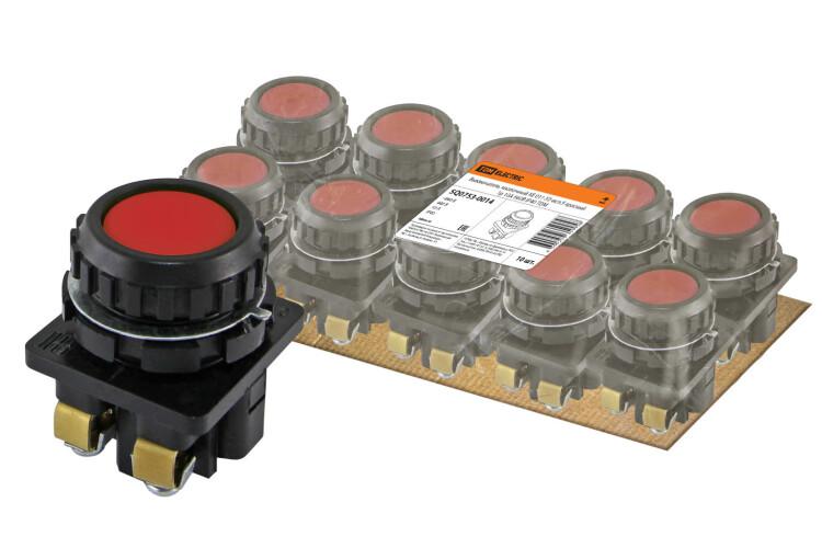 Выключатель кнопочный КЕ 011-У2-исп.5 красный 1р 10A 660B IP40   SQ0753-0014   TDM