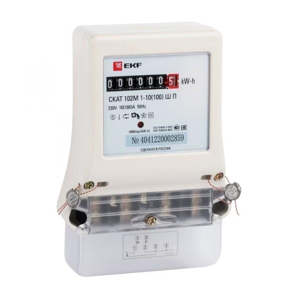 Счетчик электрической энергии СКАТ 102М/1-10(100) Ш П1 EKF PROxima | 10202 | EKF