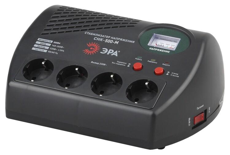 Стабилизатор напряжения компакт. СНК-500-М м.д., 160-260В/220В, 500ВА | Б0031066 | ЭРА