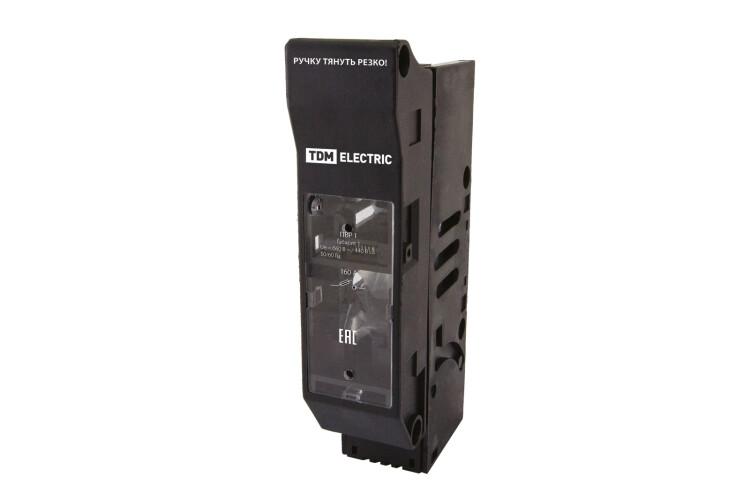 Выключатель-разъединитель с функцией защиты ПВР 00 1П 160A | SQ0726-0101 | TDM