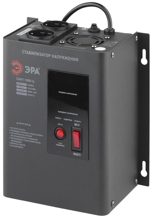 Стабилизатор напряжения СННТ-1500-Ц настенный, ц.д., 140-260В/220/В, 1500ВА (4/72) |Б0020167 | ЭРА