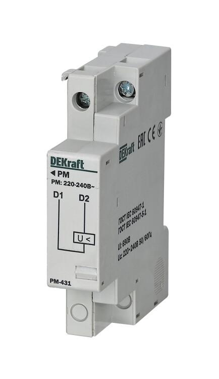 Расцепитель минимального напряжения 380-400 В для ВА-431 | 21262DEK | DEKraft