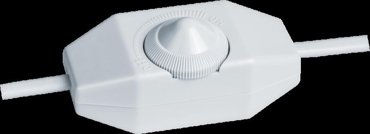 Шнур NPS-FS02-170-2x0.5-WH 1.7 м с диммируемым выкл. белый | 61602 | Navigator