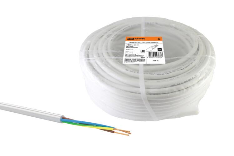 Провод ПВС 3х2,5 ГОСТ (100м), белый   SQ0118-0040   TDM