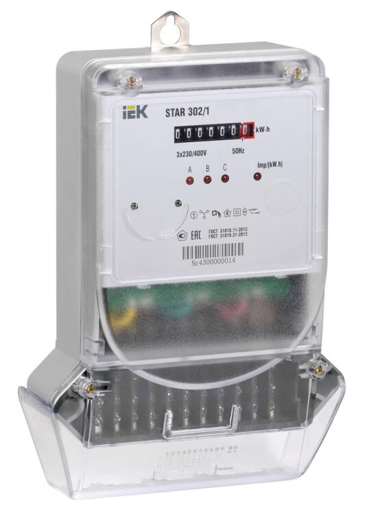 Счетчик эл. энергии трехфазный STAR 302/1 С4-5(60)М   CCE-3C1-1-01-1   IEK