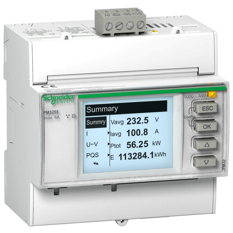 Поверенный измеритель мощности PM3250 с портом RS-485   METSEPM3250RU   Schneider Electric