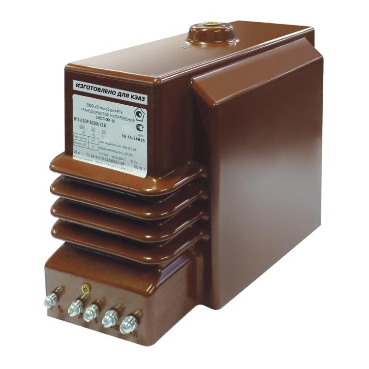 Трансформатор напряжения заземляемый ЗНОЛ-ЭК-10-М4-10000/?3-100/?3-100/3-0,5/3P-50/200-У3-б | 267844 | КЭАЗ