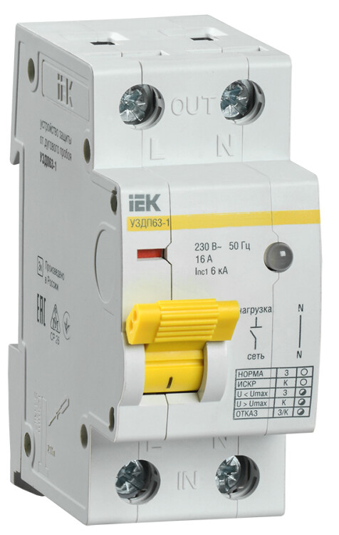 Устройство защиты от дугового пробоя УЗДП63-1 16А | MDP10-16 | IEK