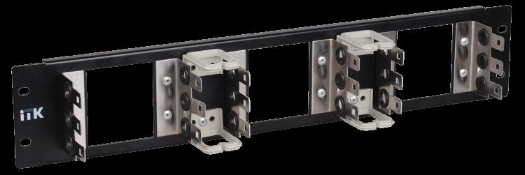 Рама 2U для 9 плинтов типа Krone, LSA-PLUS, черная | KF90-2U05A | ITK