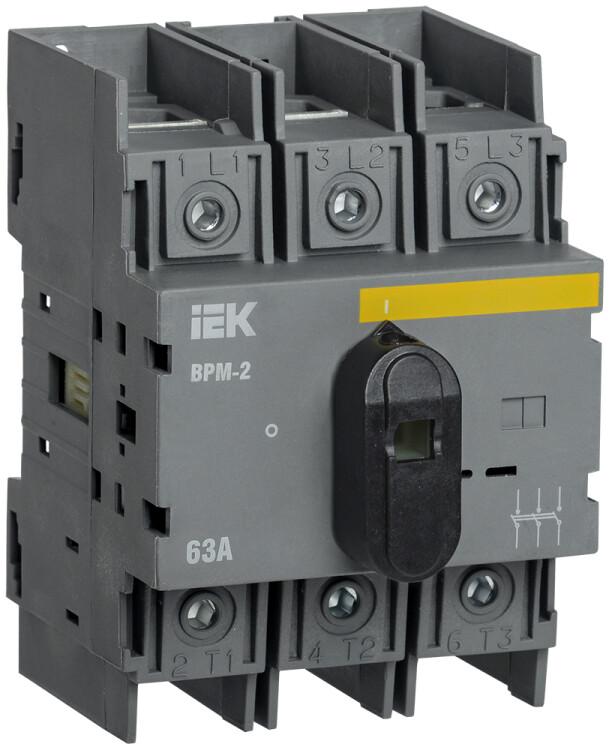Выключатель-разъединитель модульный ВРМ-2 3P 63А   MVR20-3-063   IEK