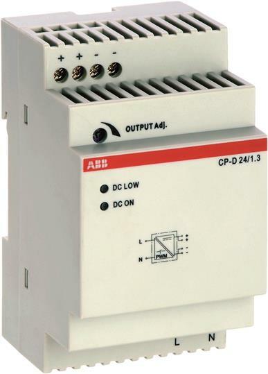 Блок питания CP-D 24/1.3 (регулир. вых. напряж) вход 90-265В AC / 120-370В DC, выход 24В DC /1.3A | 1SVR427043R0100 | ABB
