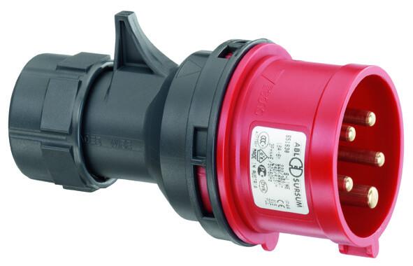 Вилка кабельная 4P 32А 400V, IP44, ABL Sursum | S42S30| ABL Sursum