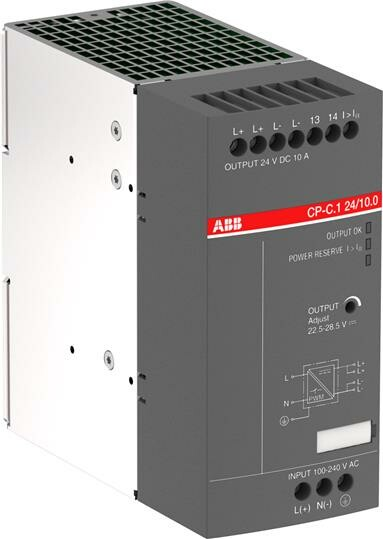 Блок питания CP-C.1 24/10.0 (регулир. вых. напряж) Uвход 85-264В AC/90-300В DC, выход 24В DC /10A|1SVR360663R1001| ABB