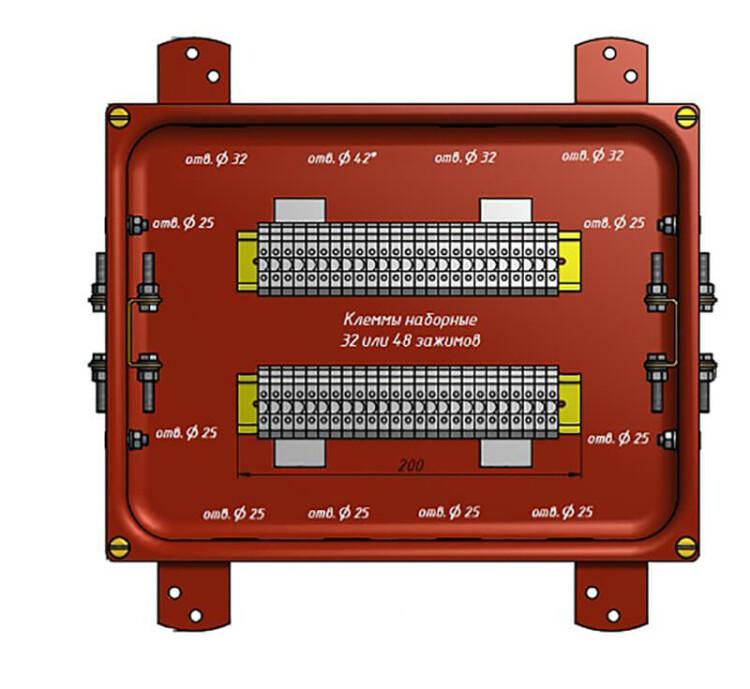 Коробка соединительная КС-40 УХЛ1,5 IP65 металлические заглушки | zeta30356 | ЗЭТАРУС (Завод электротехнической арматуры)