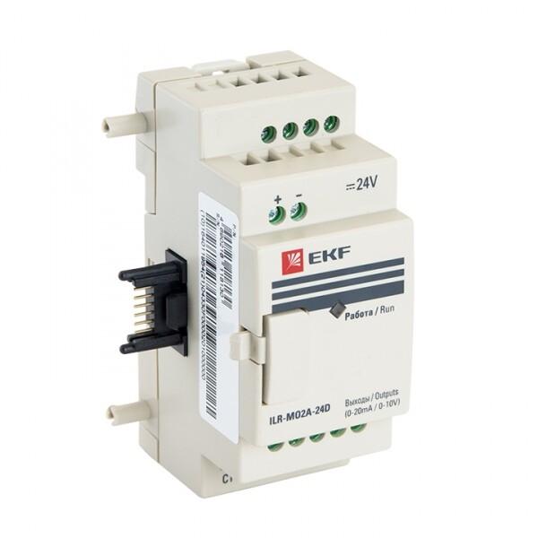 Модуль аналогового вывода 2 24В PRO-Relay EKF PROxima | ILR-MO2A-24D | EKF
