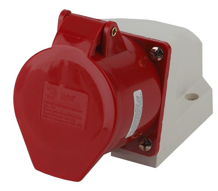 Розетка стационарная наружная 125 3Р+РЕ+N 32А 380В IP44 | Б0032879 | ЭРА