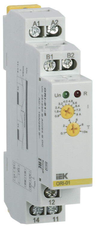Реле тока ORI. 0,8-8 А. 24-240 В AC / 24 В DC   ORI-01-8   IEK