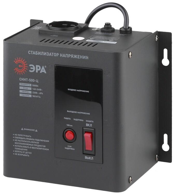 Стабилизатор напряжения СННТ-500-Ц настенный, ц.д., 140-260В/220/В, 500ВА (4/72) |Б0020165 | ЭРА