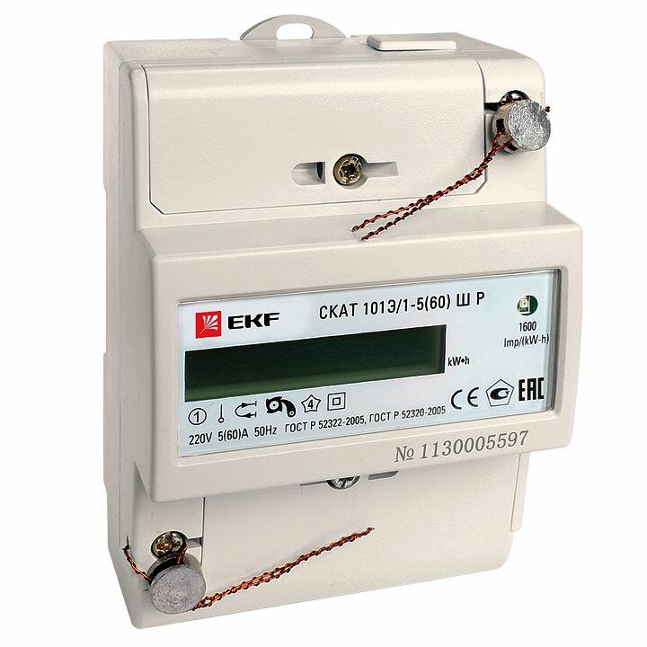 Счетчик электрической энергии СКАТ 101Э/1 - 5(60) Ш Р EKF PROxima | 10101P | EKF