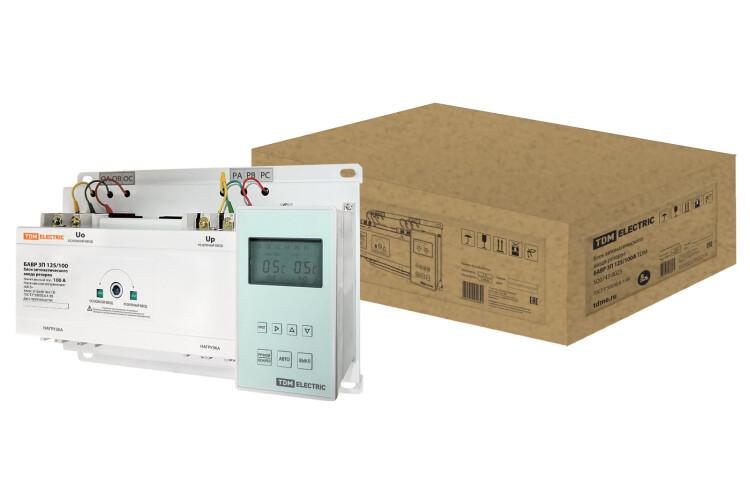 Блок автоматического ввода резерва БАВР 3П 125/100А   SQ0743-0023   TDM