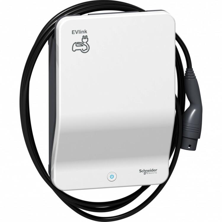 EVLINK WALLBOX PLUS кабель T2 1ф 7,4kW | EVH3S7P0CK | Schneider Electric