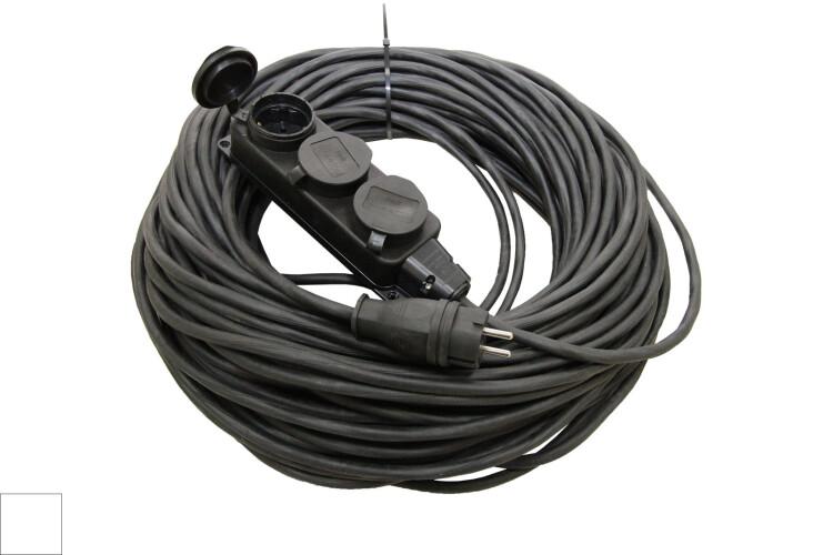 Удлинитель-шнур силовой каучук УШз16-103 IP44 3 гнезда с/з, 10м КГ 3х1,5 | SQ1302-0346 | TDM