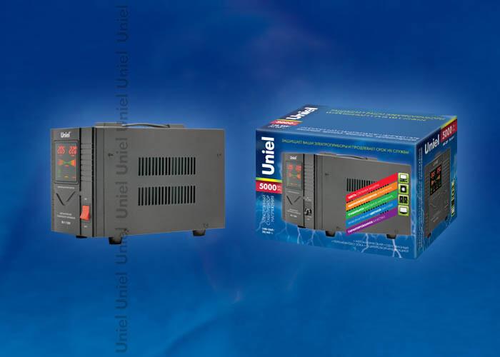 RS-1/5000 Стабилизатор «Standard» релейный однофазный, 5,0 кВА. | 03112 | Uniel
