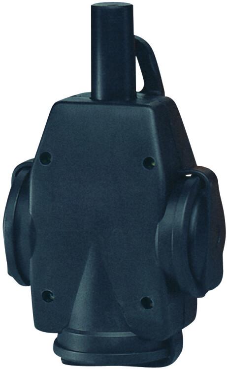 Тройник из натуральной резины 16A, 2P+E, 250V, (черный) | 1473190 | ABL Sursum