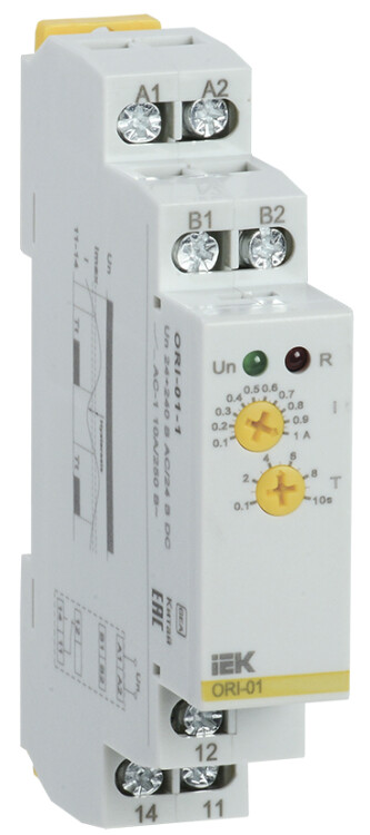 Реле тока ORI. 0,1-1 А. 24-240 В AC / 24 В DC   ORI-01-1   IEK
