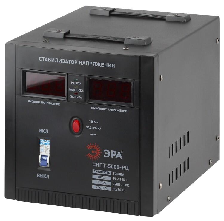 СНПТ-5000-РЦ ЭРА Стабилизатор напряжения переносной, ц.д., 90-260В/220В, 5000ВА | Б0035297 | ЭРА