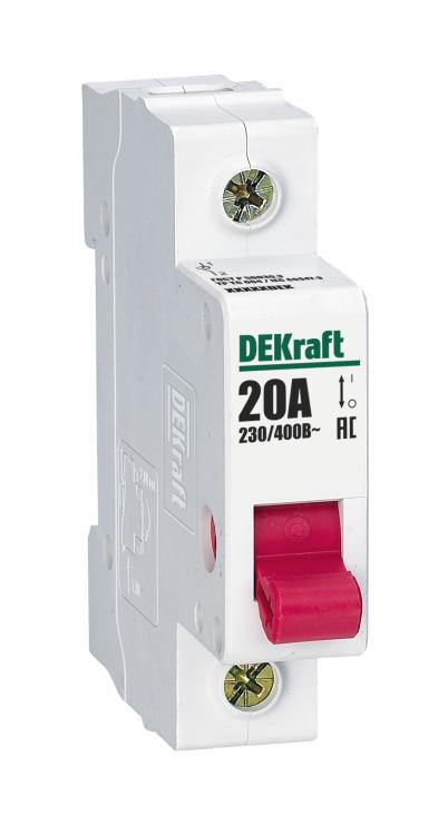 Выключатель-разъединитель 1Р 125А ВН-102 | 17017DEK | DEKraft