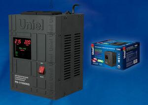 RS-1/1500WS Стабилизатор напряжения «Standard» релейный однофазный настенный, с гальванической развязкой, 1500ВА | 07380 | Uniel