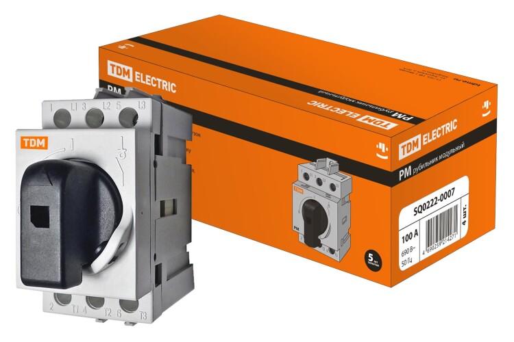 Рубильник модульный РМ-100 3П 100A | SQ0222-0007 | TDM