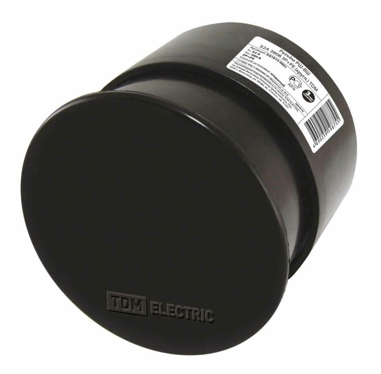 Разъём РШ-ВШ 32А 380В 3Р+РЕ (кругл.) | SQ1812-0001 | TDM